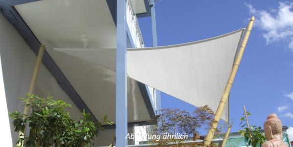 Sonnensegel Dreieck ca. 5,8m² aus Mesh 350 (Natural)