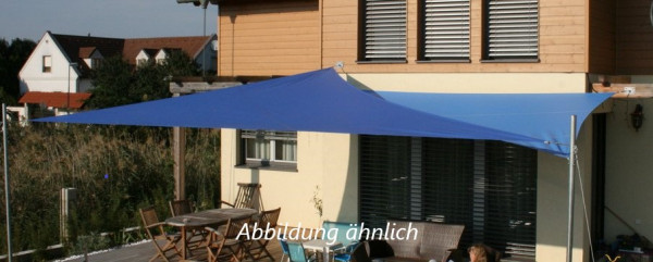 Sonnensegel Dreieck ca. 13m² aus Dickson Orchestra (Hellblau)