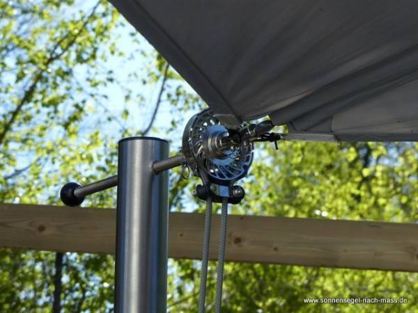 Sonnensegel Mechanik für ein aufrollbares Segel bis 20m²